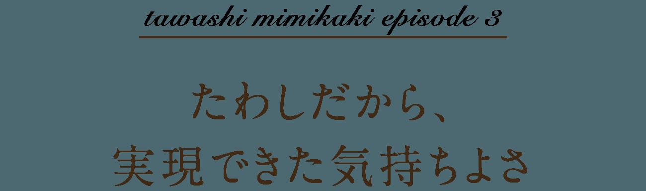 tawashi mimikaki episode 3 たわしだから、実現できた気持ちよさ。